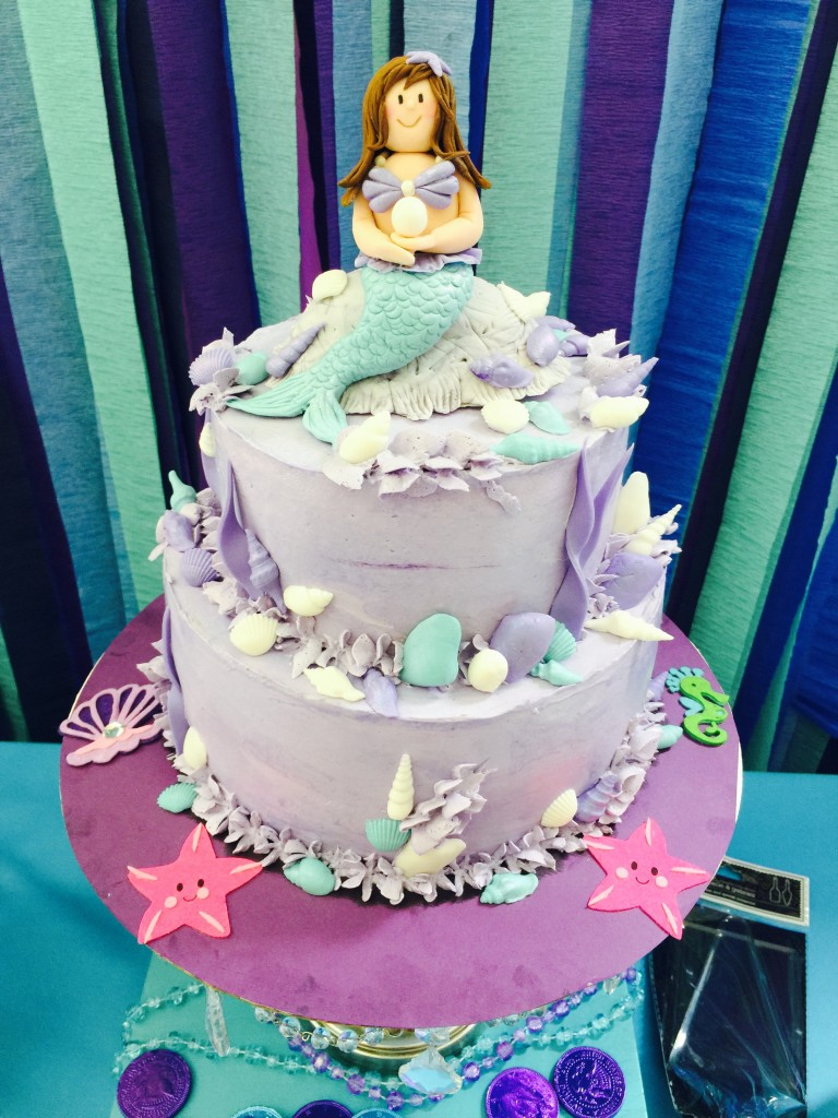adorable little mermaid cake